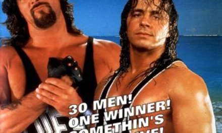 Royal Rumble 1995, Shawn Michaels is the one foot hero