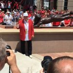 Signature Rose slide now permanently remembered with statue