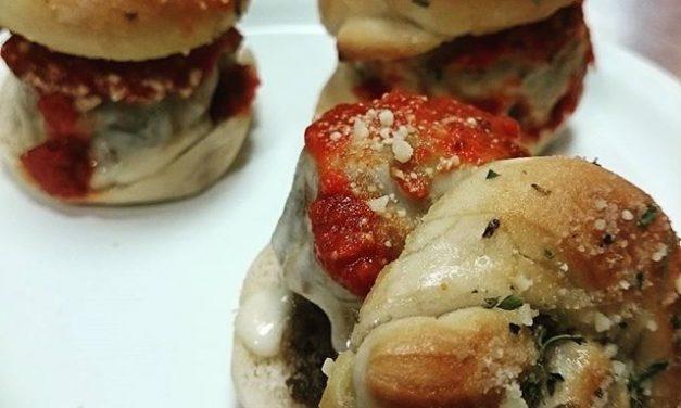 Garlic Knot Meatball Sandwich