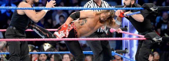 Aj Styles vs the Singh Brothers Smackdown 11/28/17