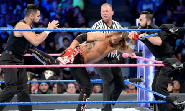 Aj Styles vs the Singh Brothers Smackdown 11/28/17